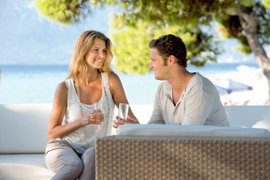 Couple enjoying a drink at Club Med