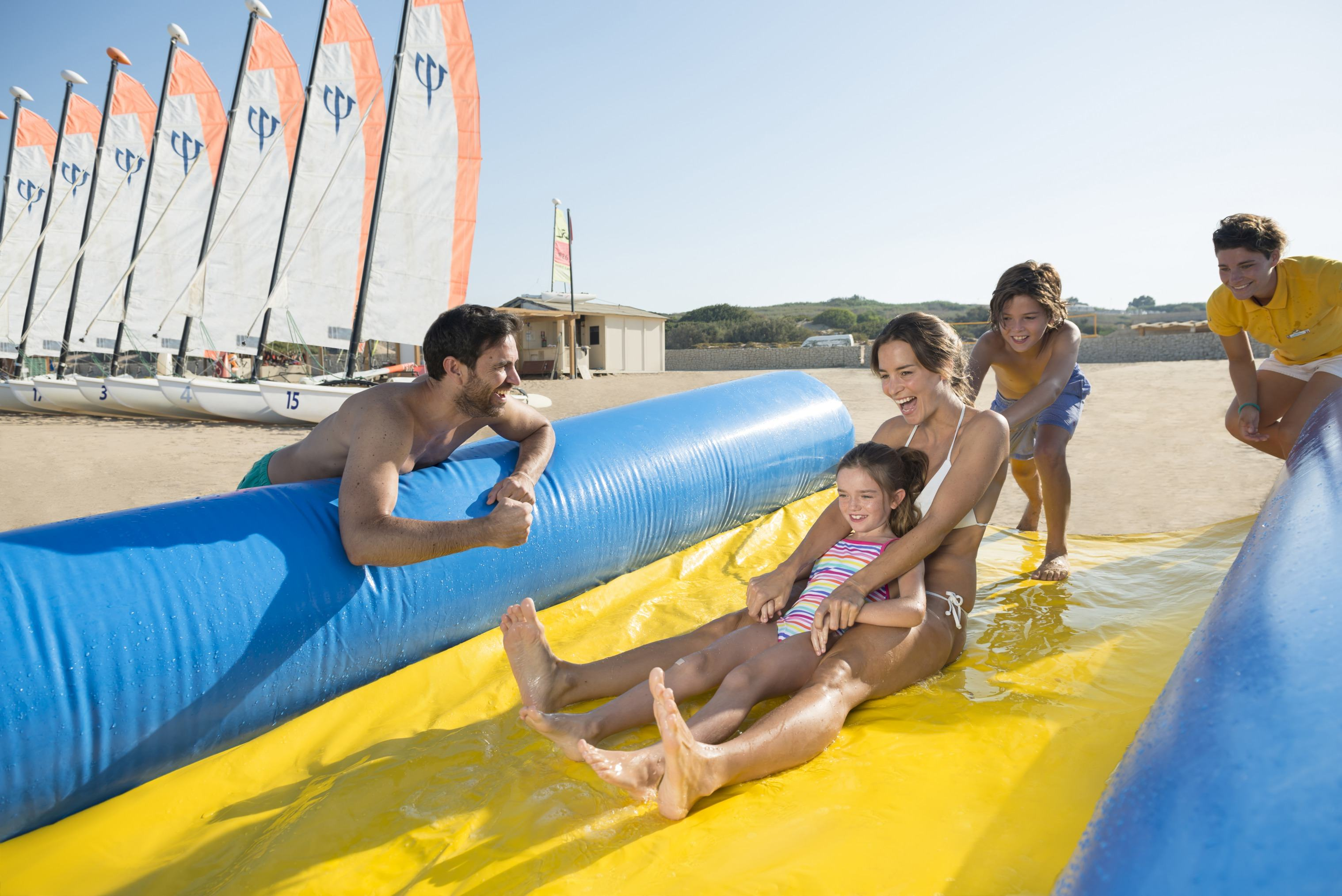 Slip and slide at Club Med Kamarina
