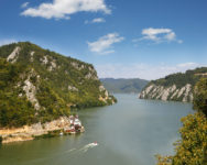 Danube from the Black sea to budapest