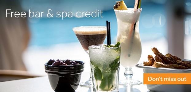Free Spa and Bar credit