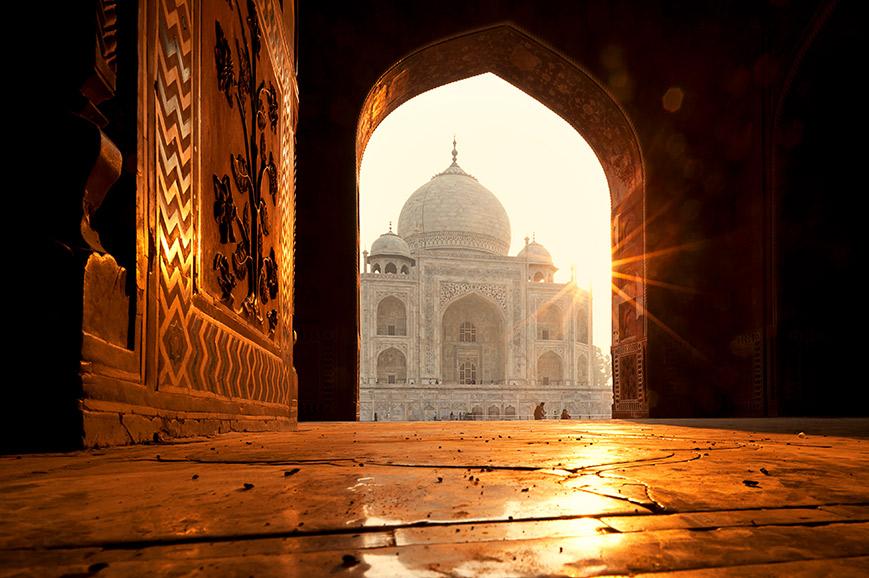 The Taj Mahal from an Doorway