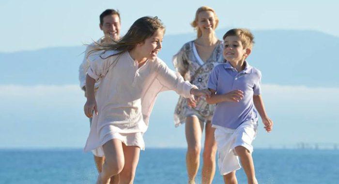 Family at Club Med resort