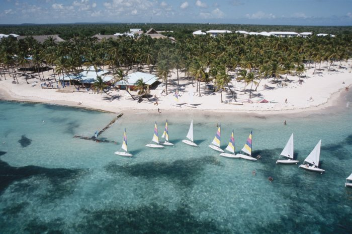 Aerial view of Club med punta cana